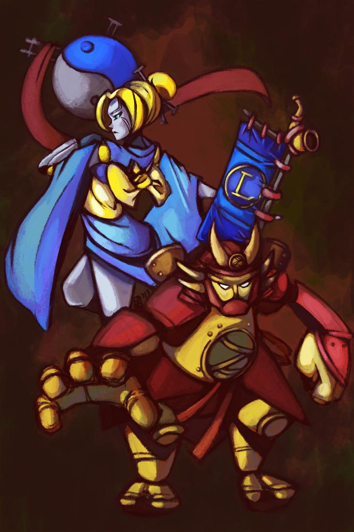 LOL: Shogun Blitz and Oriental Orianna by jayoh28
