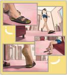 Caught inside her shoe
