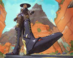 Under Ashe's boot