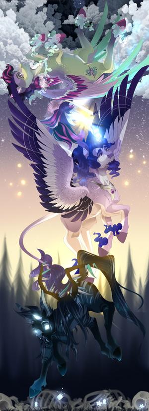 [Commission] Three Pony Gods + speedpaint