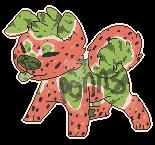 Watermelon Dog Adopt by Ponns