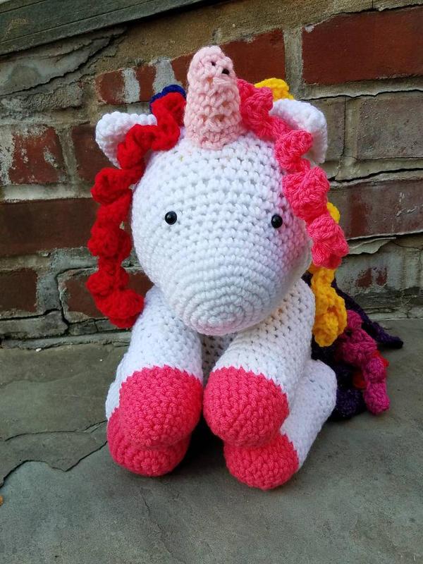 Unicorn crochet amigurumi - Step by Step - YouTube | 800x600
