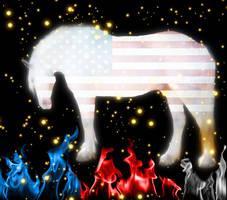 USA Horse by Pudda09