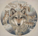 Wolves and Mountain