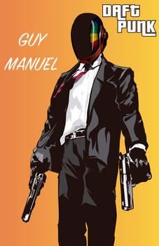 Grand Theft Auto Fan Art: Daft Punk (Guy Manuel)