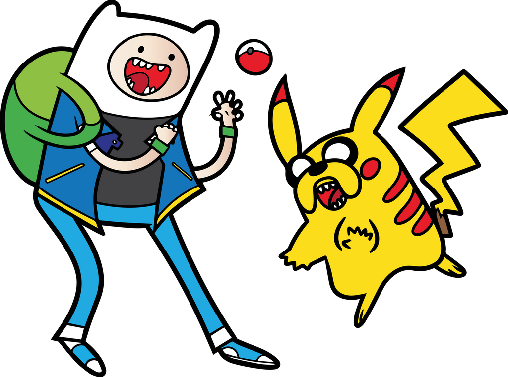 Pokemon Time With Finn And Jake By RobertoJOEL1307 On