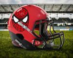 Team Marvel Comics: Spiderman Football Helmet