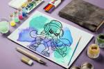 Splatoon: Inkling (Watercolor)