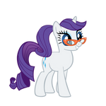 Rarity with a ponytail