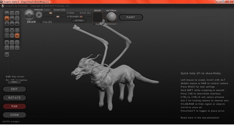 Sculptris Dragon WIP by AlphaMystFyre on deviantART