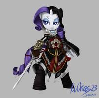MLP + AC Rarity as Ezio prt.2 Armour of Altair by KvOrias23