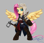 MLP + AC Fluttershy as  Connor Kenway