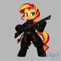 MLP + AC Sunset Shimmers as Shay Cormac by KvOrias23