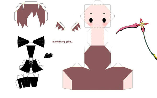 Marluxia papercraft template by noixeZ Papercraft Templates Anime