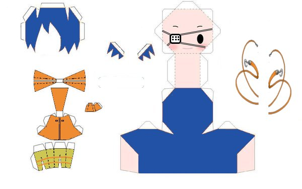 akito papercraft template by noixeZ