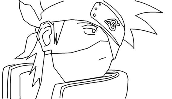 Dibujos De Kakashi Para Colorear: Naruto Kakashi Para Dibujar