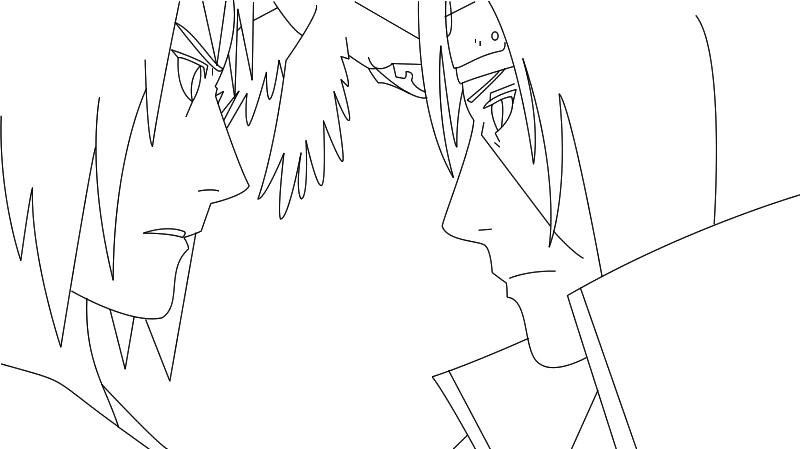 Sasuke E Itachi lineart by Sakura1885 on DeviantArt
