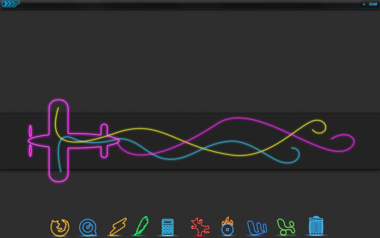 Neon Desk Notebook by KorToIk