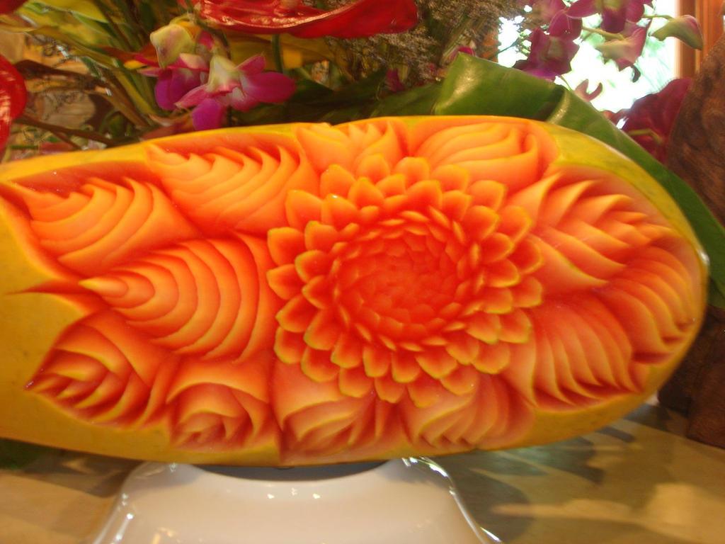 Fruit carving papaya by jackosan on deviantart