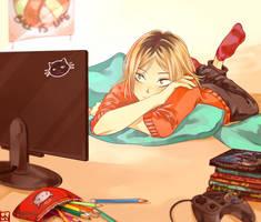 Lazy afternoon by soreiyu-run