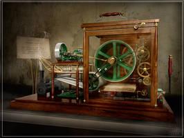 Steampunk Photocopier - 3D by preciousSTONE