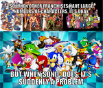 The hate towards Sonic friends