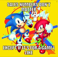 Sales number hypocrisy