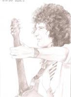 Brian May live at Wembley 1986 by DrawnByYou