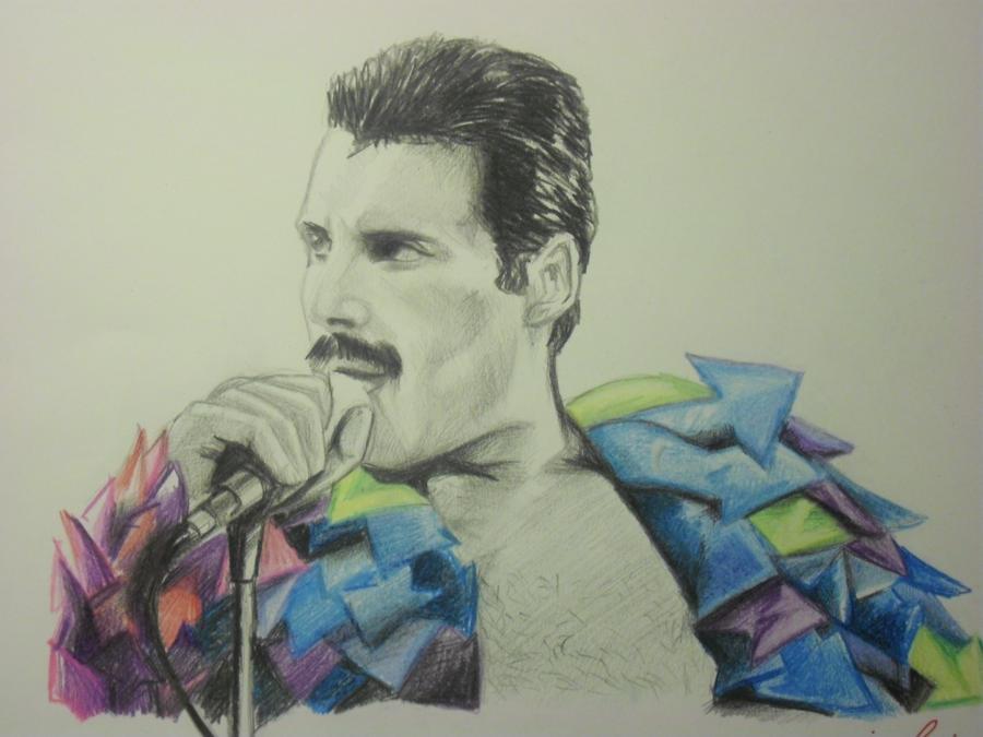 Freddie Mercury of Queen by DrawnByYou