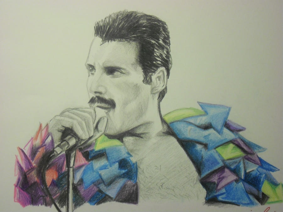 Freddie Mercury of Queen by DrawnByYou