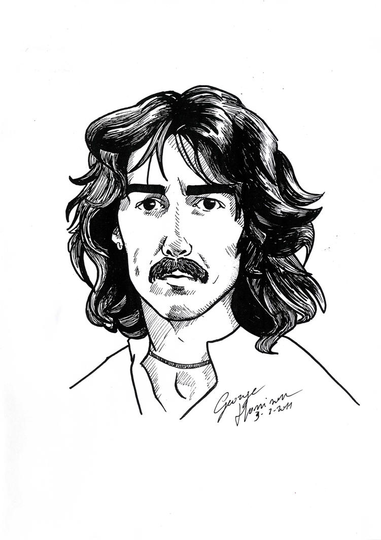 George Harrison caricature by DrawnByYou
