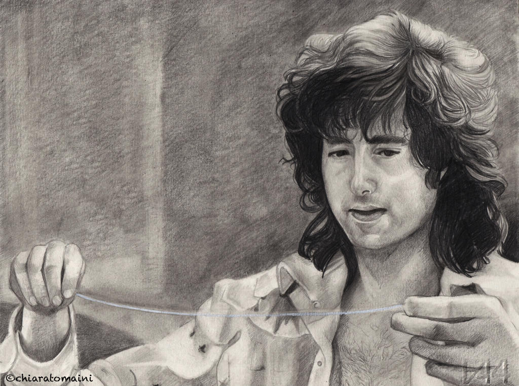 jimmy page looking the guitar string by drawnbyyou on deviantart. Black Bedroom Furniture Sets. Home Design Ideas