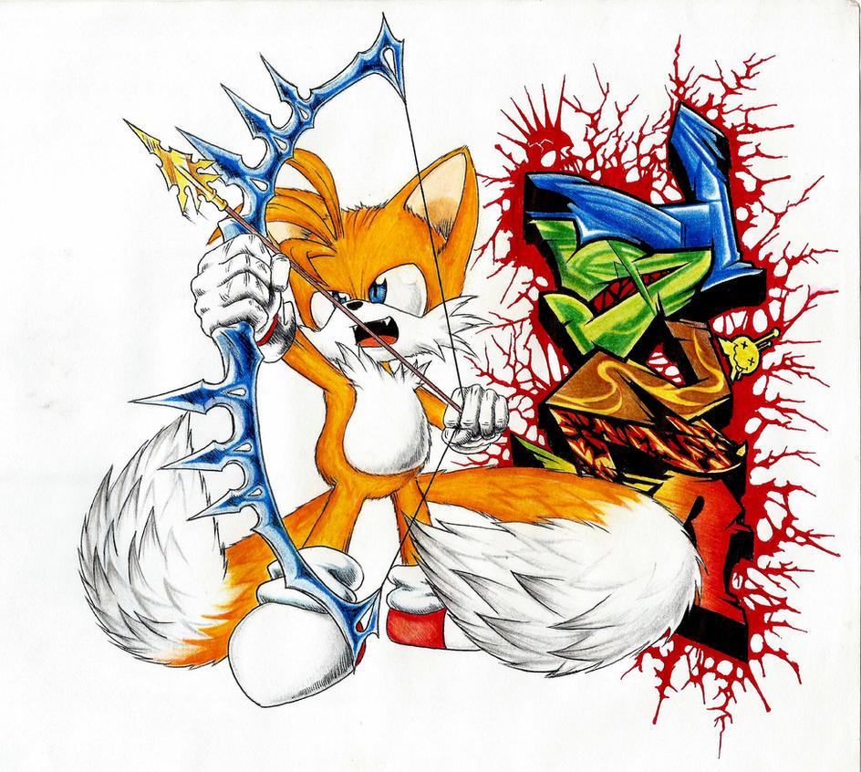 Tails graffiti [Original] by Dash-Metal-Cheetah