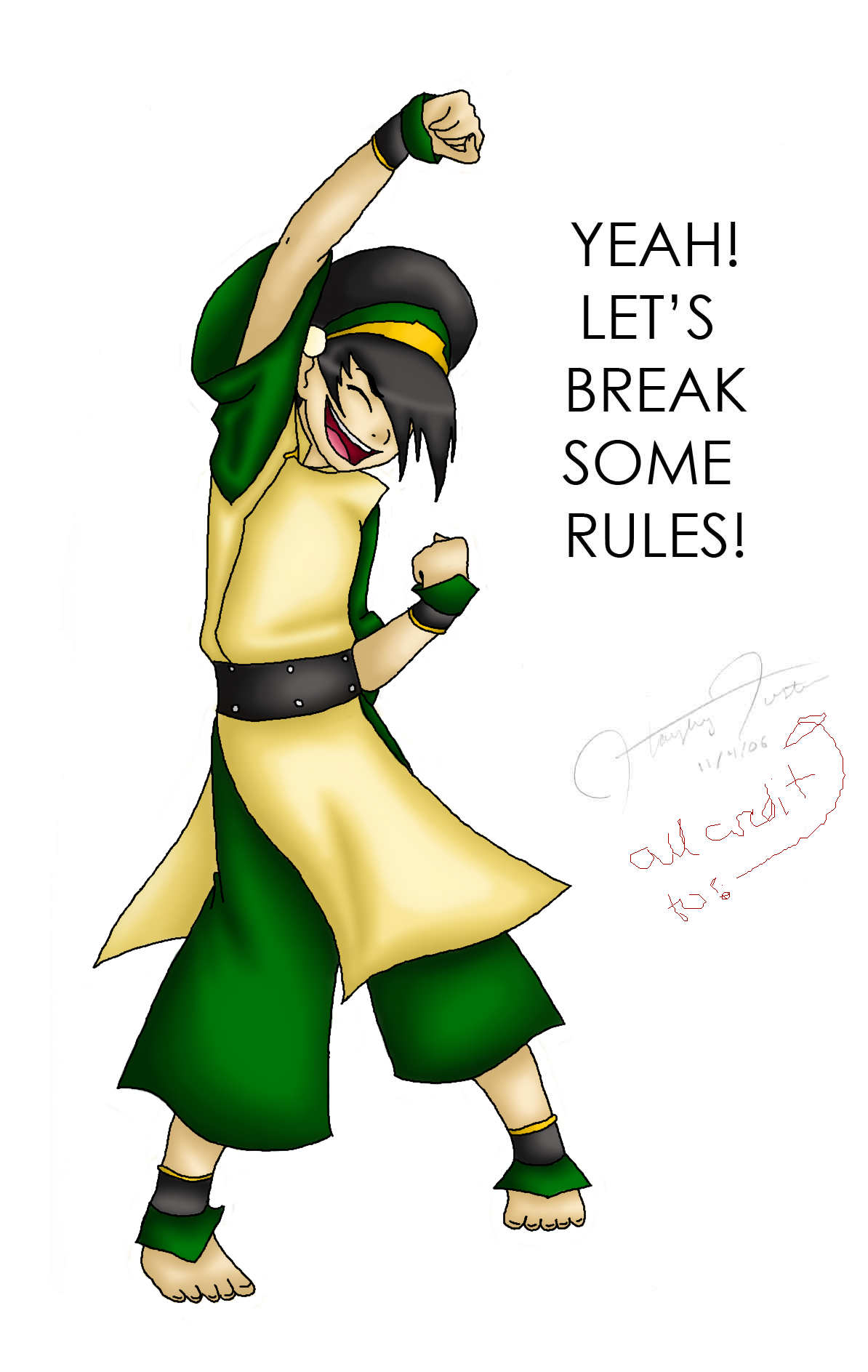 Toph Coloring by PhantomessTerabithia