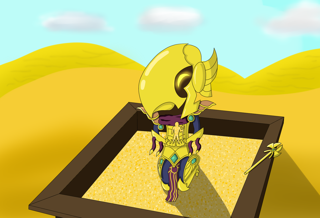 Azir, the Emperor of the Sandpit by KenjiPuppetmaster