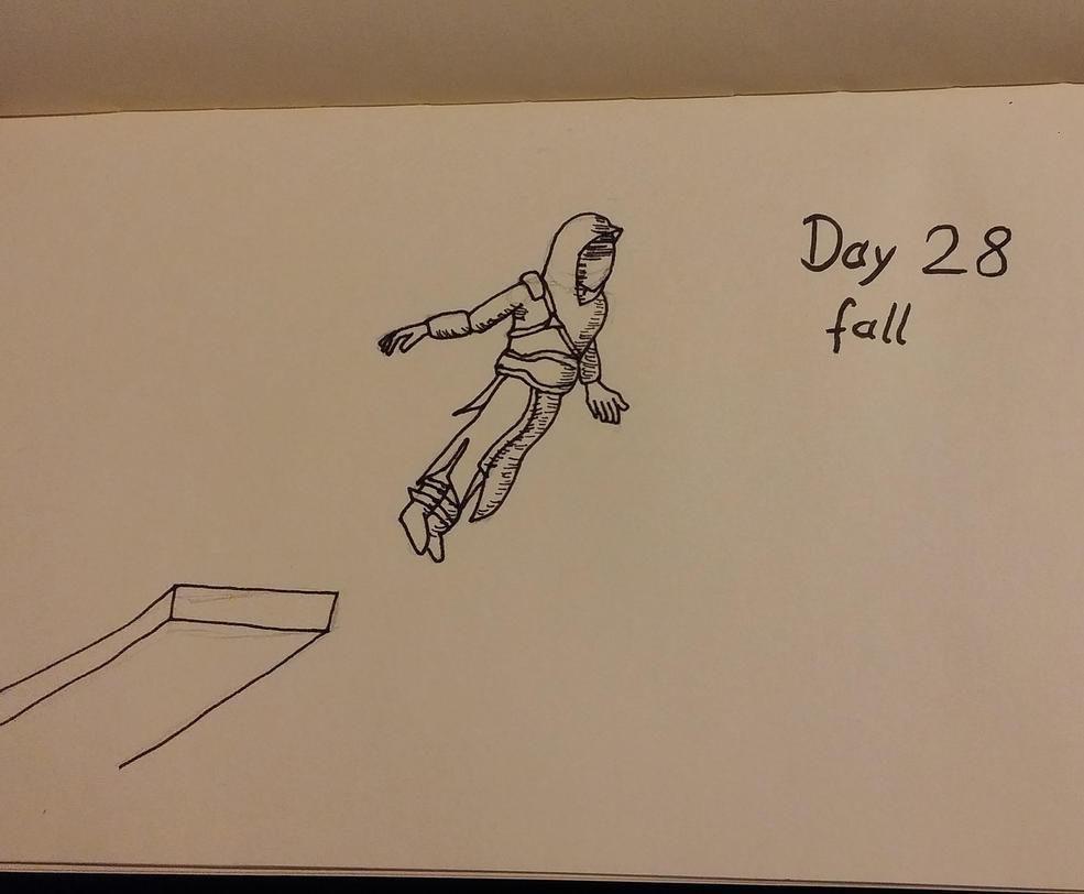 Inktober Day 28 Fall by KenjiPuppetmaster