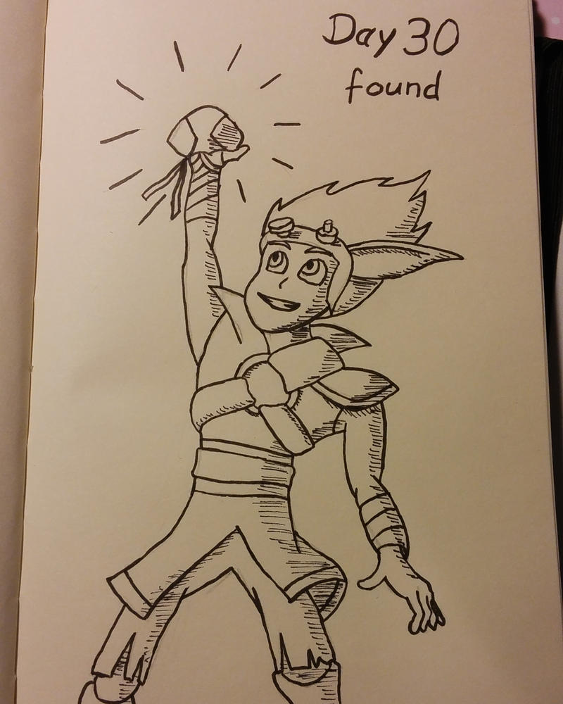 Inktober Day 30 Found by KenjiPuppetmaster