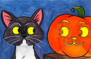 Spooky Kitty by cozmictwinkie