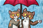 Kittens in a Rainstorm