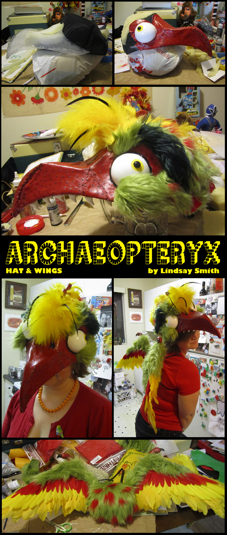 Archaeopteryx Hat and Wings by cozmictwinkie