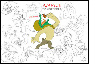 Ammut  The Heart Eater by JamminBison