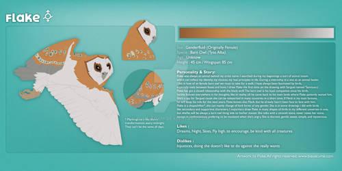 Flake - Reference Sheet (Animal Totem/Mascot)