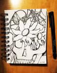 Inky Spooky Skeleton