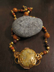 Eos necklace with Lake Erie Stone focal
