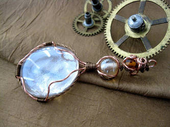 steampunk Magnifying Glass Pendant