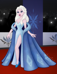 Queen Elsa on the Red Carpet by Toyboy566