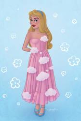 Princess Aurora in the Pink Skies Midi dress