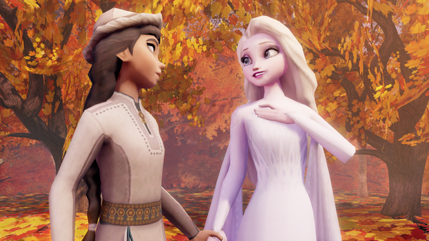 Honeymaren and Elsa taking a stroll