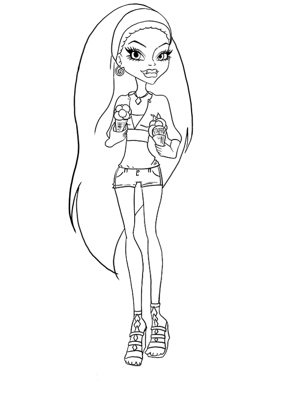 easy monster high coloring pages - photo#30