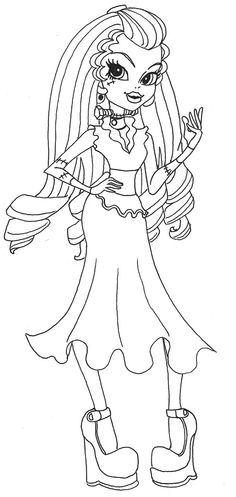 Cute Frankie Stein Monster High Coloring Page By Myers30534